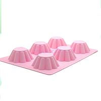 Силиконовая форма для выпечки в духовке / Силіконова форма для випічки в духовці (Кекс) розовый