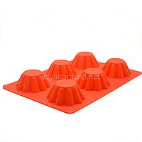 Силиконовая форма для выпечки в духовке / Силіконова форма для випічки в духовці (Кекс) красный