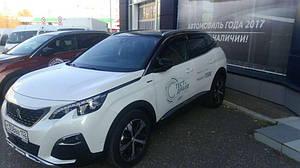 Ветровики Peugeot 3008 2017  дефлекторы окон