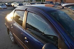 Ветровики Peugeot 307 Sd/Hb 5d 2002-2008  дефлекторы окон