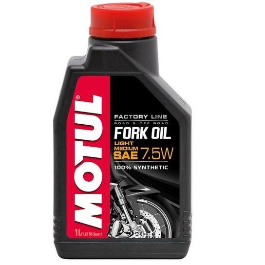 Масло вилочное 100% синтетическое MOTUL Fork Oil Light/Medium Factory Line SAE 7,5W 1л. 105926/821701