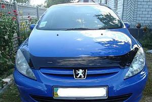 Мухобойка, дефлектор капота Peugeot 307 с 2001-2005 г.в.до ресталинга
