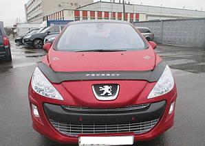 Мухобойка, дефлектор капота Peugeot 308 с 2008–2011 г.в.