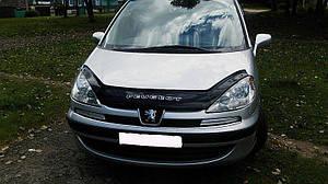 Мухобойка, дефлектор капота Peugeot 807 с 2002-2011 г.в.