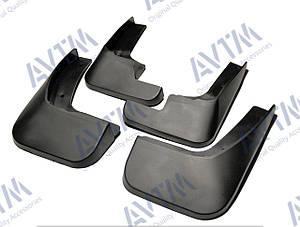 Брызговики полный комплект для Peugeot 301 2012- (1607396780;1607396880), комплект 4шт MF.PE3012012