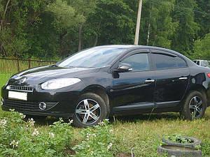 Ветровики Renault Fluence Sd 2010  дефлекторы окон