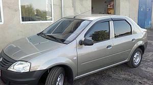 Ветровики Renault Logan I Sd 2004-2013  дефлекторы окон