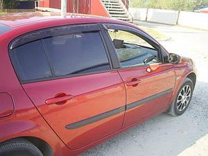 Ветровики Renault Megane II Sd 2002-2008  дефлекторы окон