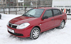 Ветровики Renault Symbol 2008-  дефлекторы окон