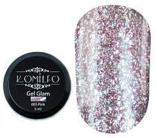 Komilfo Glam Gel Pink № 005, 5 мл