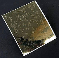 Металлизированные наклейки для ногтей № 047
