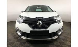 Мухобойка, дефлектор капота Renault Captur c 2013- г.в.(европа)