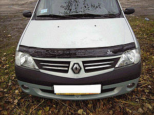 Мухобойка, дефлектор капота Renault Logan с 2005-2013 г.в