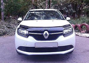 Мухобойка, дефлектор капота Renault Logan с 2013- г.в.
