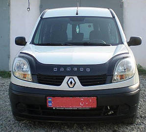 Мухобойка, дефлектор капота Renault Kangoo с 2003-2007 г.в.после ресталинга