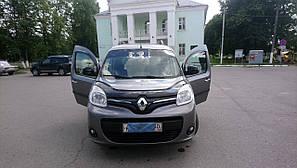 Мухобойка, дефлектор капота Renault Kangoo с 2013 г.в. после ресталинга