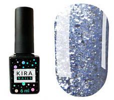 Гель-лак Kira Nails Shine Bright №010 (голубой с блестками), 6 мл