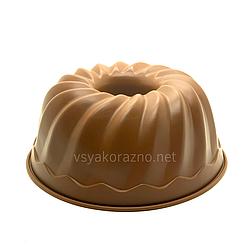 Силиконовая форма для выпечки / Силіконова форма для випічки (Пудинг, большой) коричневый