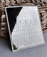 Металлизированные наклейки для ногтей № 68