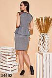 Вечернее блестящее платье с баской р. 42-44, 44-46, 48-50, 50-52, фото 2