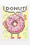 """Картина по номерам стикерами в тубусе """"Пончик"""", 33х48см, 1200 стикеров. 1869, фото 3"""
