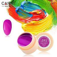 Гель-краска Canni 595 яркая розово-баклажанная.
