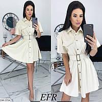 """Сукня-сорочка жіноча еко-шкіра мод. 498 (L-XL, S-M) """"EBA"""" недорого від прямого постачальника, фото 1"""