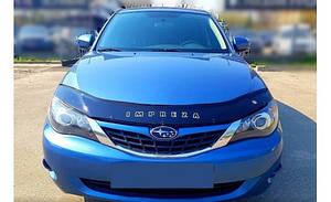 Мухобойка, дефлектор капота Subaru Impreza с 2007-2011 г.в.