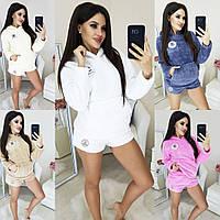 Женская стильная пижама с шортами
