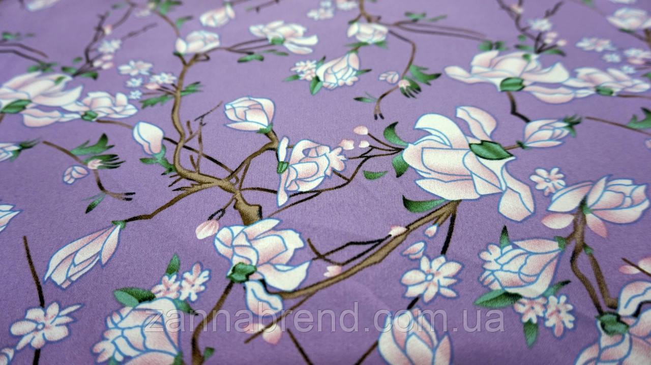 "Фіолетова тканина хард-софт ""Абутилон"""