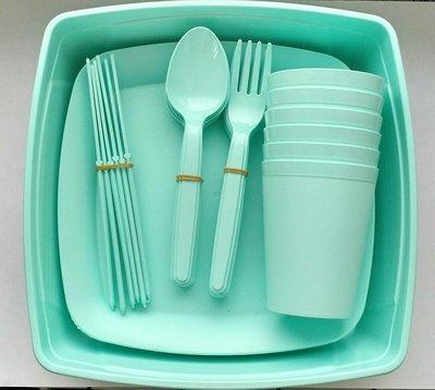 Набор посуды для пикника в контейнере на 6 персон (32 предмета)