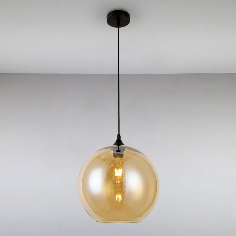 Люстра подвесная на одну лампу LS-814829-1 BR коричневая