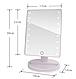 Настольное зеркало для макияжа SUNROZ с LED подсветкой 16 светодиодов, фото 5