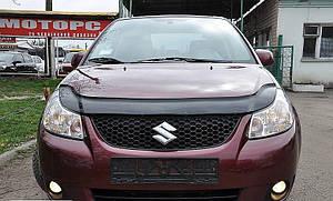 Мухобойка, дефлектор капота Suzuki SX4 с 2005-2012 г.в.