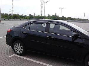 Ветровики Toyota Corolla Sd 2013  дефлекторы окон