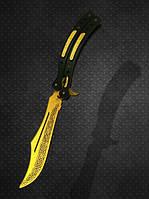 Нож-бабочка складной Деревянный Лор, CS GO Butterfly Knife Lore