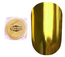 Komilfo Mirror Powder №002, золото, 0,5 г