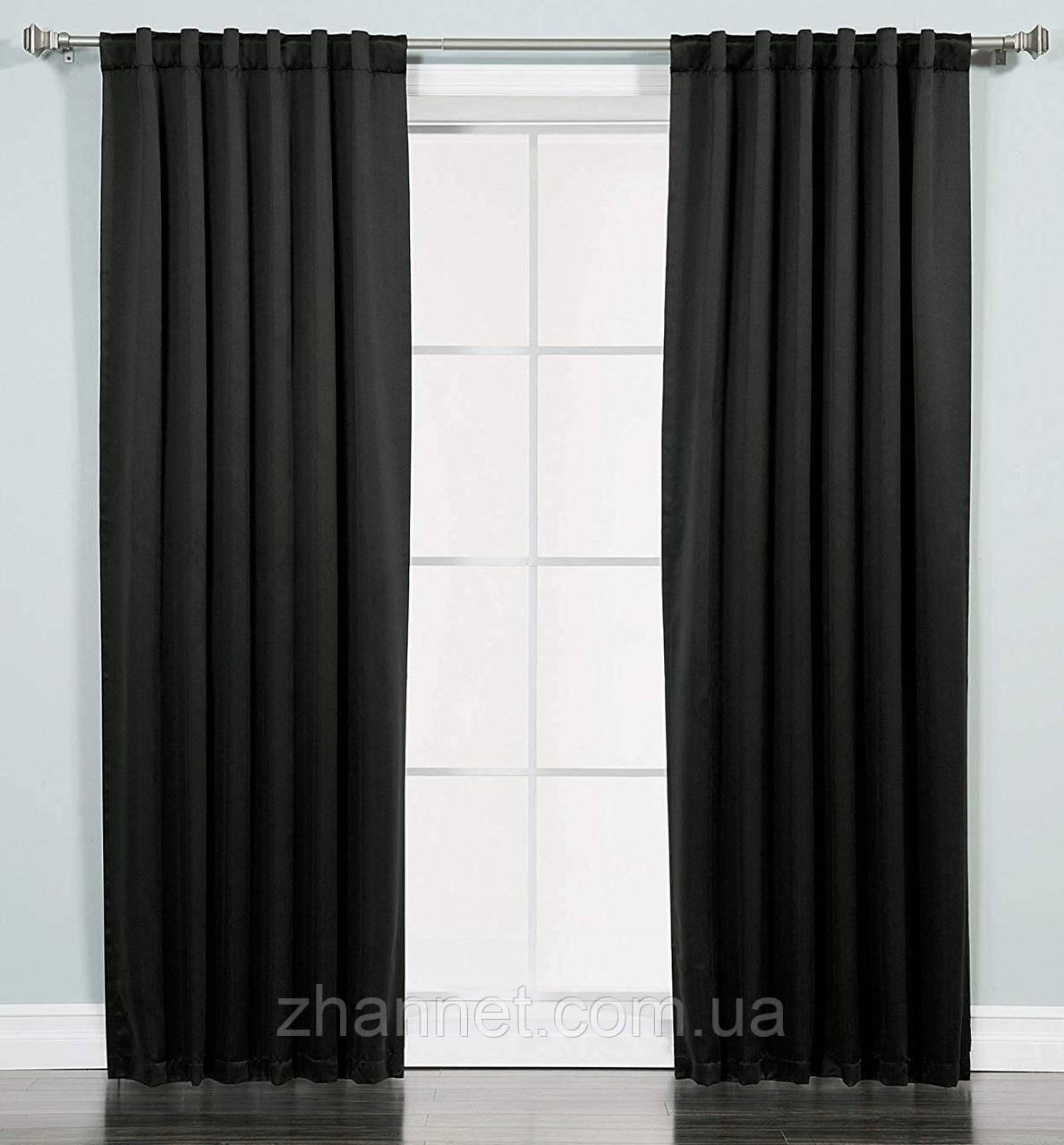 Комплект Штор Блекаут чёрный (150813215)
