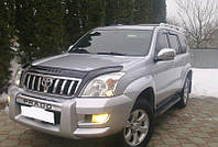 Мухобойка, дефлектор капота TOYOTA Land Cruiser Prado 120 с 2003 2009 г.в.
