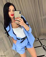 Женский стильный костюм с пиджаком и шортами Разные цвета, фото 1