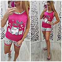 Пижама женская для сна на лето хлопок 100%, фото 1