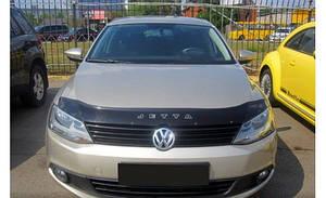 Мухобойка, дефлектор капота VW Jetta VI с 2010-2018 г.в.