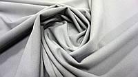 Ткань нежный креп-дайвинг серого цвета