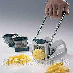 Машинка для нарезки картофеля фри, ручная картофелерезка Potato Chipper Металическая