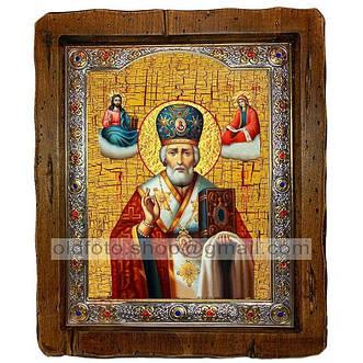 Иконы Николая Чудотворца (посеребренный оклад)