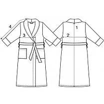 Махровый халат м.119-А ТМ Ярослав, белый, фото 2