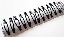 Шпильки для волосся тік-так/хлопавки подовжені 6 см чорні 12 шт