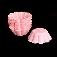 """Силиконовая форма для выпечки кексов """"Волна"""" набор / Силіконова форма для випічки кексів (12 шт) розовый"""