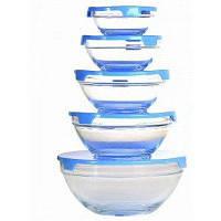 Набор стеклянных емкостей с крышками Cooking Bowl 5 шт.