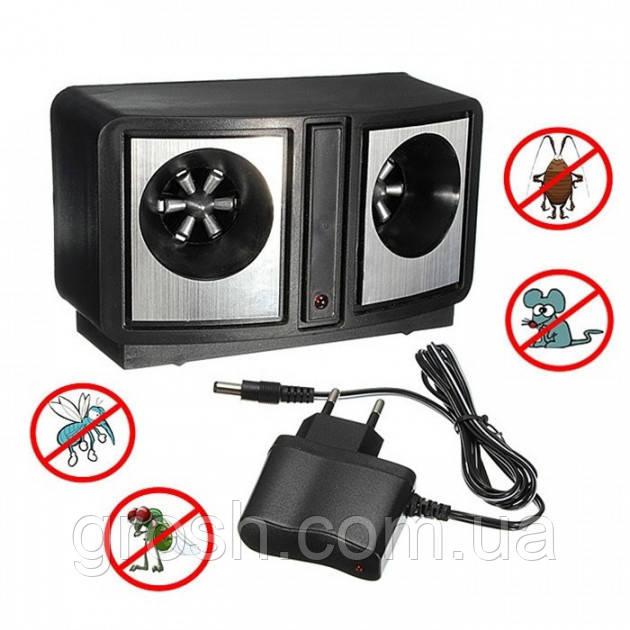 Ультразвуковой электронный отпугиватель грызунов (крыс, мышей) и насекомых Dual Sonic Pest Repeller М+